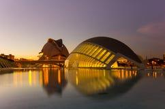 Stad van de Kunsten en de Wetenschappen Stock Fotografie
