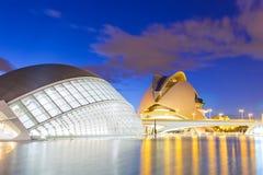 Stad van de Kunsten en de Wetenschappen in Valencia, Spanje Royalty-vrije Stock Afbeeldingen