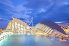 Stad van de Kunsten en de Wetenschappen in Valencia, Spanje Royalty-vrije Stock Foto