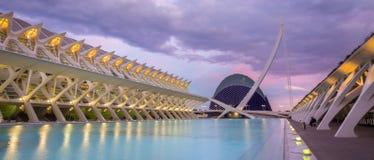 Stad van de Kunsten en de Wetenschappen in Valencia, Spanje Royalty-vrije Stock Foto's