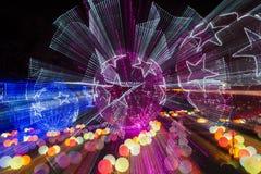 2016 stad van de Lantaarncarnaval van Shanghai de Internationale Magische van licht Stock Foto