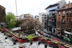 Stad van de mening van Belgrado van een dak royalty-vrije stock fotografie