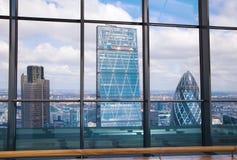 Stad van de mening van Londen Panorama van vloer 32 van de wolkenkrabber van Londen Stock Foto's