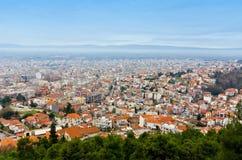 Stad van de stad van Serres in Noord-Griekenland royalty-vrije stock foto