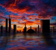 Stad van de toekomst stock fotografie