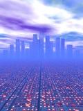 Stad van de toekomst Stock Afbeeldingen