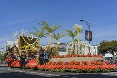 Stad van de vlotter van Carson in Rose Parade royalty-vrije stock foto