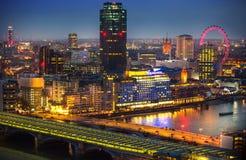 Stad van de zaken van Londen, bureau en bankwezengebied Stock Foto's
