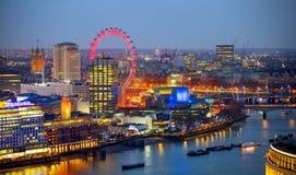 Stad van de zaken van Londen, bureau en bankwezengebied Stock Afbeeldingen