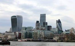 Stad van de zaken van Londen en financiële aria royalty-vrije stock foto's