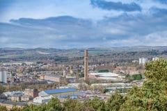 Stad van Dundee met de Stapelschoorsteen Schotland van Cox stock afbeelding