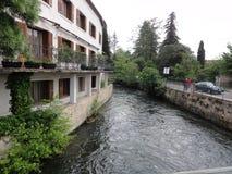 Stad van eiland-op-de-Sorgue - Frankrijk royalty-vrije stock foto