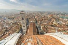Stad van Florence van de Brunelleschi-koepel van de kathedraal van Florence stock afbeeldingen