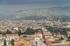 Stad van Florence van de Brunelleschi-koepel van de kathedraal van Florence royalty-vrije stock afbeeldingen