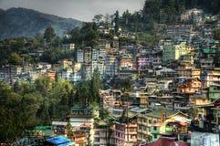 Stad van Gangtok royalty-vrije stock foto