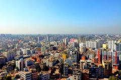 Stad van gebouwen royalty-vrije stock afbeelding