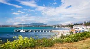Stad van Gelendzhik op de kust van de Zwarte Zee van Rusland Stock Foto
