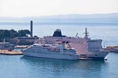 Stad van Gespleten haven luchtmening Stock Foto's