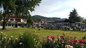 Stad van Gornji Milanovac stock foto