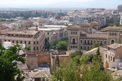 Stad van Granada, Spanje royalty-vrije stock foto