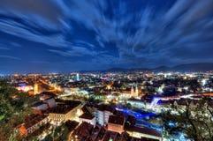Stad van Graz bij nacht Royalty-vrije Stock Afbeelding