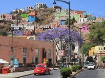Stad van Guanajuato in Mexico met Kleurrijke Gebouwen Royalty-vrije Stock Afbeelding