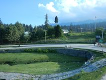 Stad van Gulmarg in Kashmir Stock Fotografie