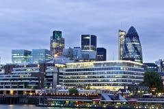 Stad van het financiële district van Londen Stock Foto's
