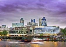 Stad van het financiële district van Londen Stock Afbeeldingen
