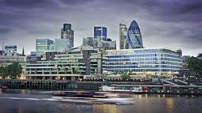Stad van het financiële district van Londen Royalty-vrije Stock Afbeeldingen
