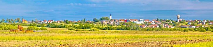 Stad van het landschap en de architectuur van Vrbovec royalty-vrije stock foto