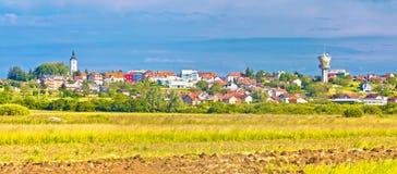 Stad van het landschap en de architectuur van Vrbovec royalty-vrije stock afbeelding