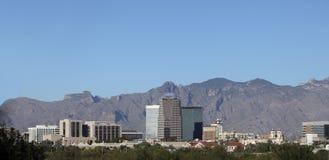 Stad van het panorama van Tucson, AZ stock afbeelding
