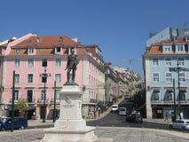 Stad van het het standbeeld de mooie landschap van Lissabon Portugal Stock Afbeelding