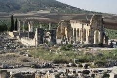 Stad van het Volubilis Roman imperium in Marokko, Afrika Royalty-vrije Stock Fotografie