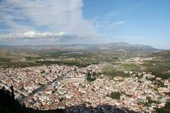 Stad van hierboven Stock Foto