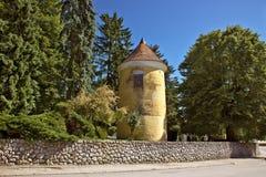 Stad van historische het parktoren van Vrbovec royalty-vrije stock afbeeldingen