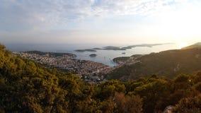 Stad van Hvar, Hvar-Eiland, Dalmatië, Kroatië Royalty-vrije Stock Afbeeldingen
