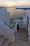 Stad van Imerovigli, Santorini Stock Foto