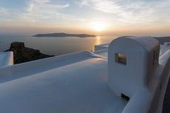 Stad van Imerovigli, Santorini, Stock Afbeeldingen