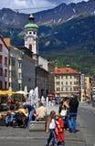 Stad van Innsbruck, Oostenrijk Stock Foto