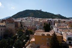 Stad van Jaen in zuidelijk Spanje, Andalucia. Royalty-vrije Stock Afbeelding