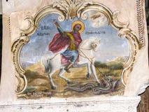 stad van Jeruzalem, het binnenland van Christelijke kerken stock foto