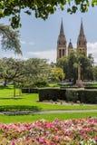 Stad van kerken Stock Foto