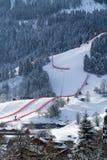 Stad van Kitzbuhel in de winter Royalty-vrije Stock Afbeeldingen