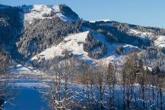 Stad van Kitzbuhel in de winter Royalty-vrije Stock Foto