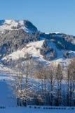 Stad van Kitzbuhel in de winter Stock Foto