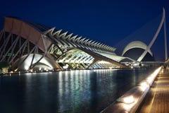 Stad van Kunsten en 's nachts Wetenschappen Stock Afbeeldingen