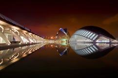 Stad van kunsten en wetenschappen - opera brede mening Stock Afbeelding