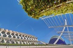 Stad van Kunsten en Wetenschappen Valencia stock afbeeldingen
